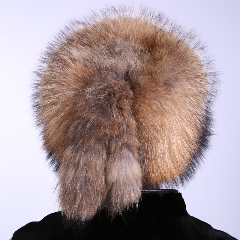 Apparel Accessories Fluffy Fur Men Hat Mongalia Type Suit For Cold Season Guarantee 100% Racoon Dog Material Popular Unique Design Ea4050-2 Customers First