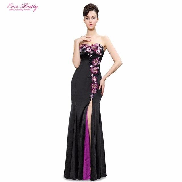 f2f165814 Vestidos de noche Nunca-Bonito HE9928BBK Elegante Sin Tirantes Flores  Lentejuelas Entrecerrados Trailing Vestidos de