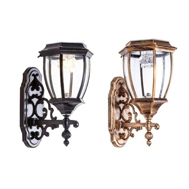 Homestia 1pc Vintage Solar Outdoor Wall Sconces Sconce Lights Retro Exterior Lamp Aluminum Lantern
