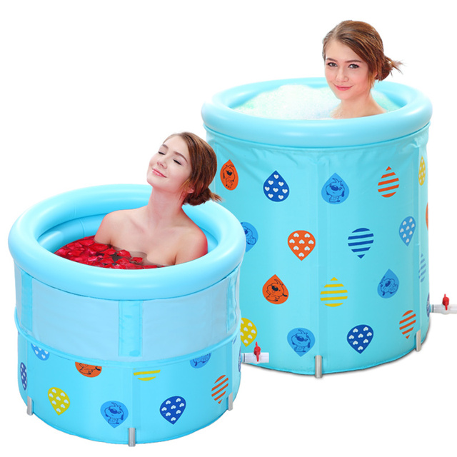5 Height Adjustment Adult Portable Folding Inflatable Bath Tub With
