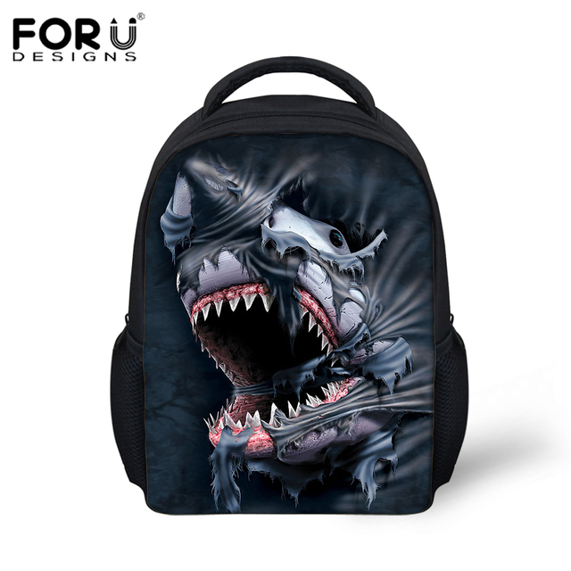 Aliexpress.com : Buy Children Backpacks 3D Animal Shark Printing ...