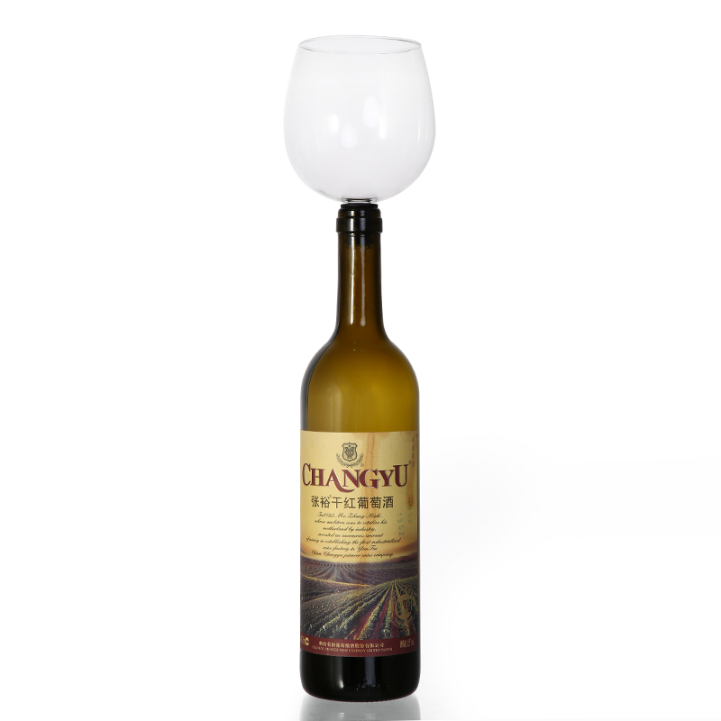 Creative Free Shipping Fastest ePacket Drinking Wine Glass Of Wine Bar Tools Wine Stopper It Turns Bottle Of Wine Into Glasses