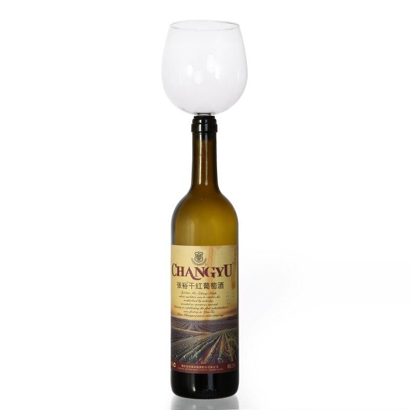 Creativo envío libre más rápido ePacket beber vino copa de vino Bar herramientas vino tapón resulta botella de vino en gafas