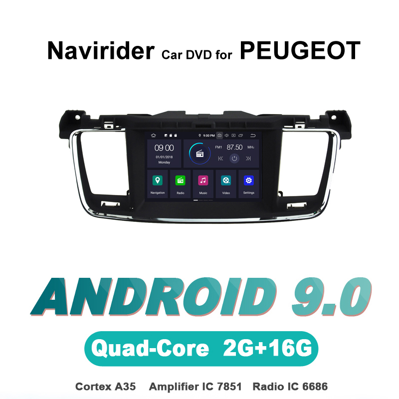 Navirider OS 9.0 Car <font><b>Android</b></font> Player For <font><b>PEUGEOT</b></font> <font><b>508</b></font> stereo radio <font><b>gps</b></font> navigation bluetooth TDA7851 Amplifier sound System image