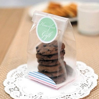 100pcs Set Cake Biscuit Bags Food Grade Party Gifts Food Packaging Bag Candy Cookies Pouches