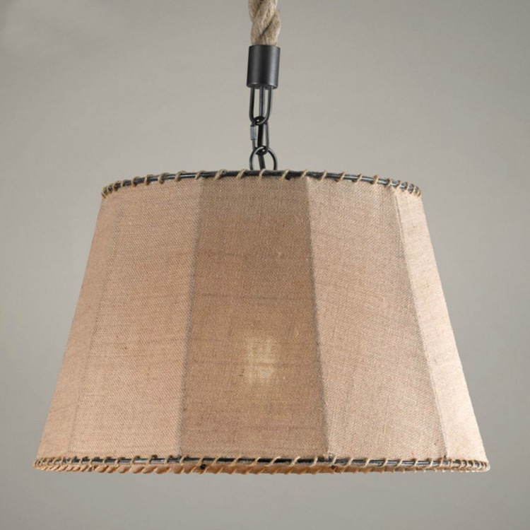 vintage loft linen cover pendant light bedroom dining room study staircase bar lamp