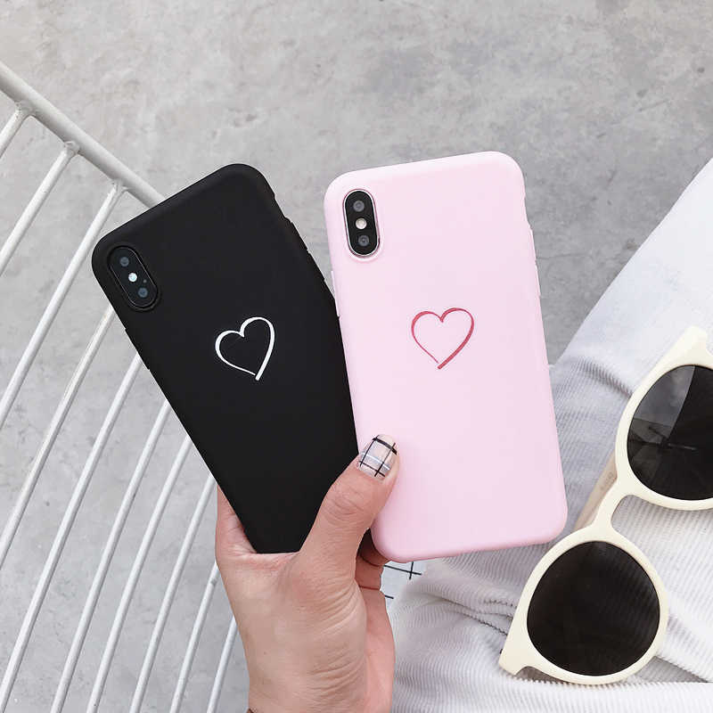 For Huawei P8 P9 P10 P20 Lite Plus P30 Pro 2017 P Smart 2019 Z Cute Love Heart Case For Huawei Mate 8 9 10 20 Lite Pro Cover