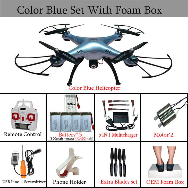 Syma X5HW FPV RC Quadcopter Drone with WIFI Camera 6-Axis 2.4G RC Helicopter Quadrocopter Toys VS Syma X5SW X5C with 5 battery