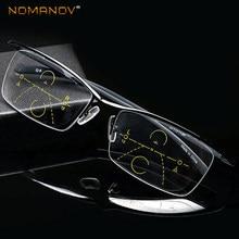 bdf08149e4 CLARA VIDA = montura de gafas de lectura Multifocal Progresiva ceja de  aleación de titanio ver cerca y lejos
