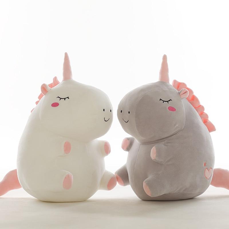 1pc 25cm unicorn plush toy fat unicorn doll cute animal stuffed soft pillow baby kids toys for girl birthday christmas gift stuffed toy