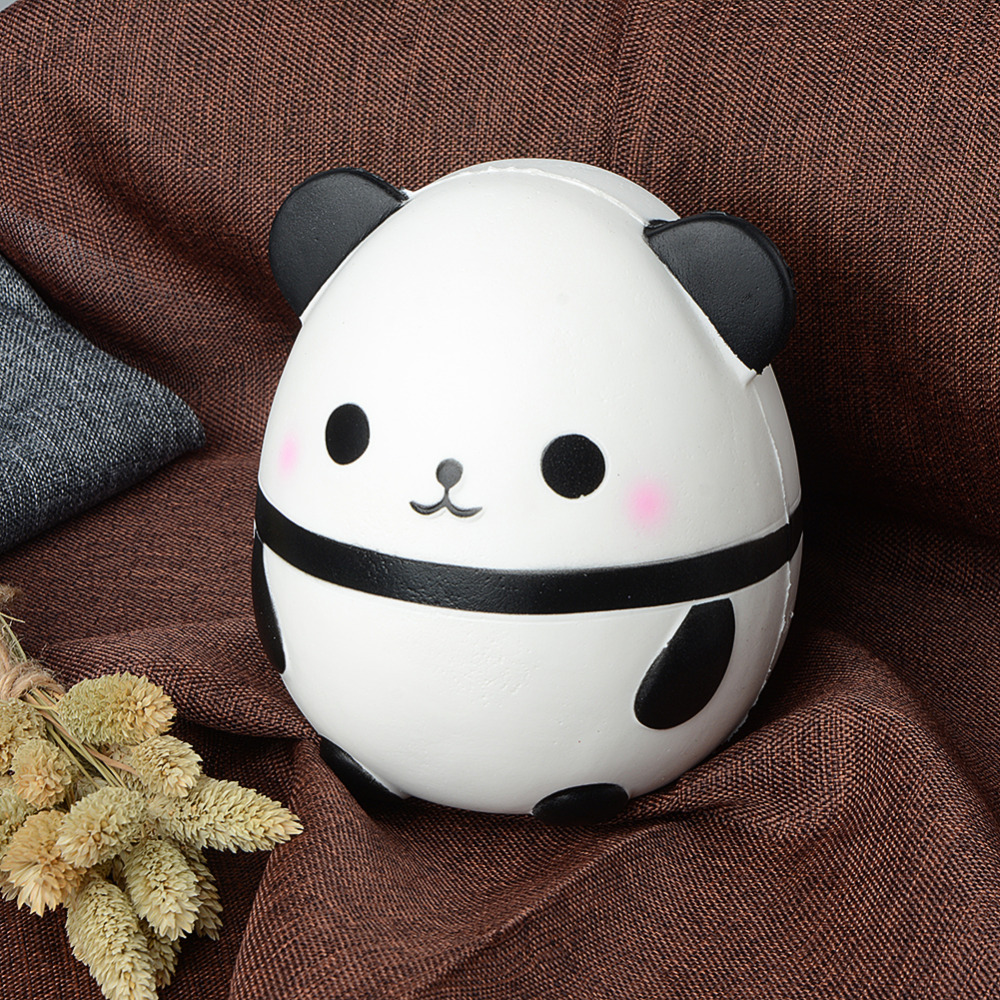 Jumbo Squishy Kawaii Panda Bear Egg Candy Soft Slow Rising Stretchy Squeeze Kid Toys Relieve Stress Phone Straps Children Gifts Traveling Automobiles