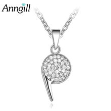Anngill New Hot Crystal Whistle Necklace Full Cubic Zirconia Gold Color Costume  Jewelry Accessories for Women Dropshipping d584ad743bb7