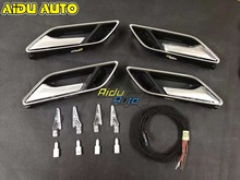 1 Set 4 PCS For Audi A3 8V door handle with LED ambient light