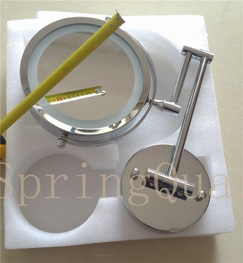 Регулируемый 18 светодиодный зеркало для макияжа с лампой с 10X увеличением присоска зеркало портативное увеличительное косметическое зерка... - 3
