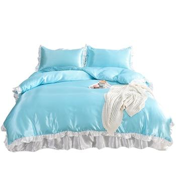 Solid Color Ice Silk Bedding Set Bedding Sets