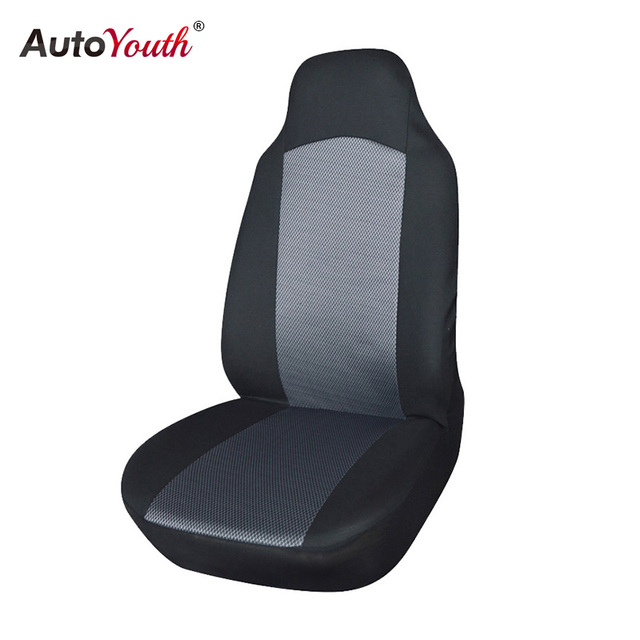 AUTOYOUTH Front Car Seat Cover Mesh Fabric Universal Fit For Bucket Breathable Protector