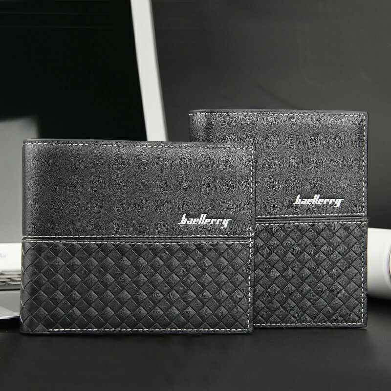BAELLERRY Short Small Leather Men Wallet Designer Famous Brand Male Coin Purse Walet Card Holder Money Bag Cuzdan Portfel Vallet baellerry top pu leather men wallets and purses coin purse man famous small short portomonee mini male purses card holder walet