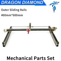 Dragon Diamond Laser Modules Outer Sliding Rails Kits Laser Mechanical Set 600*400mm for 6040 CO2 Laser Engraving Machine