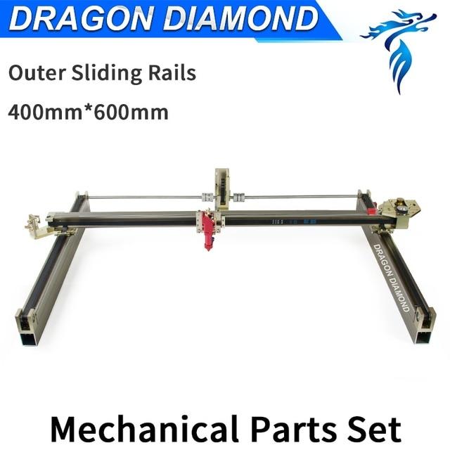US $450 0 |Aliexpress com : Buy Dragon Diamond Laser Modules Outer Sliding  Rails Kits Laser Mechanical Set 600*400mm for 6040 CO2 Laser Engraving