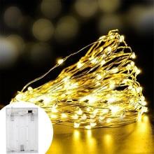 2 м 5 м 10 м медный провод шкаф лампа украшение для книжного шкафа светодиодный светильник Гибкая струнная Лампа Рождественская Свадебная вечеринка Внутреннее освещение