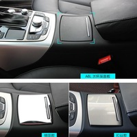 1 PCS DIY Car Styling New Stainless Steel Glass Sliding Cover Decorative Panel Cover Case For