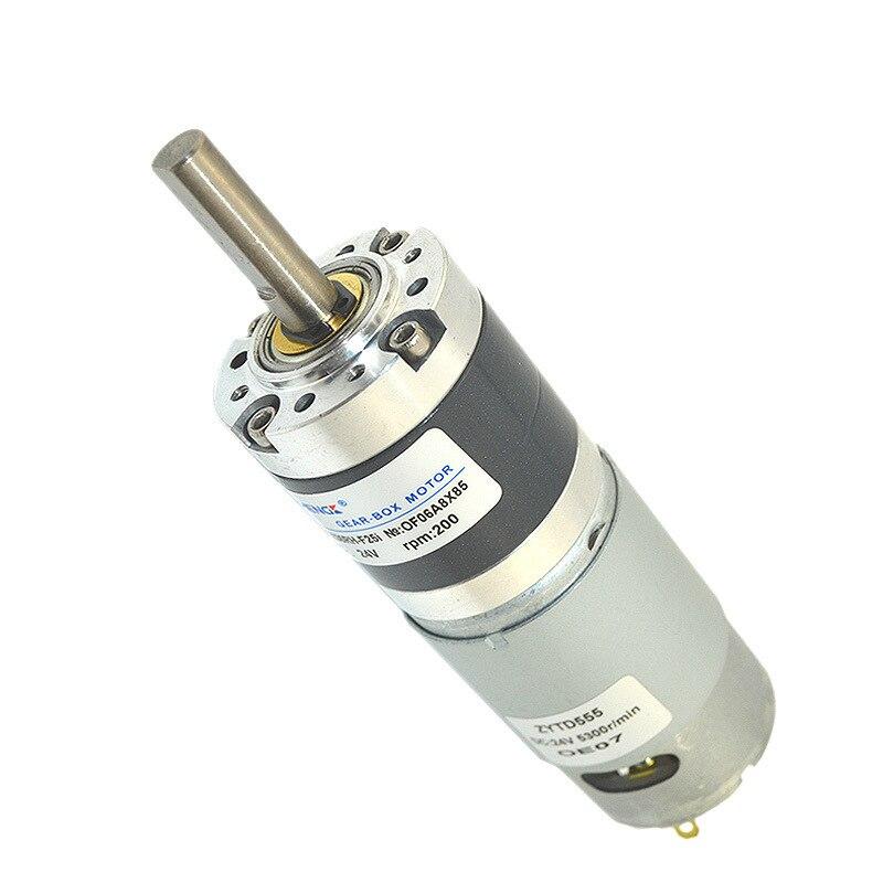 ZGX36RH 12V-24V Permanent Magnet Brush Planetary Gear Motor