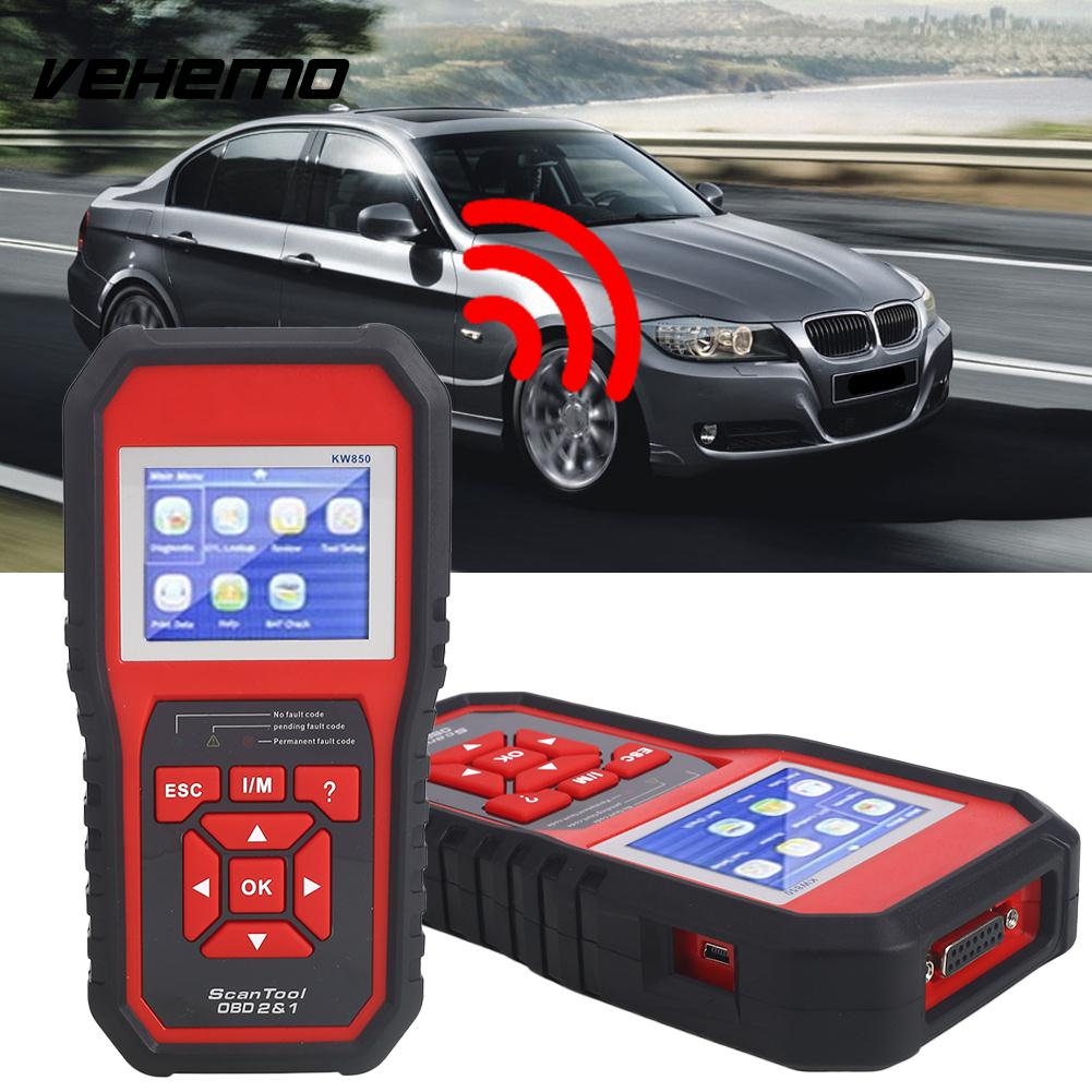 Vehemo ABS Scanner OBD2 Automatic Diagnostic Tools Durable for for Kw850 Accurate Vehicle tech2 obd2 usb tech diagnostic scanner for opel