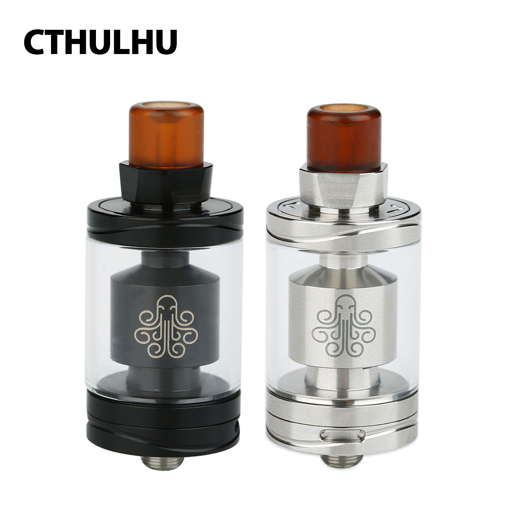 все цены на Original Cthulhu Hastur MTL RTA Tank with 3.5ml Tank Capacity & 5 Swappable Air Flow Resisters & Two 510 Drip Tips E-cig Tank