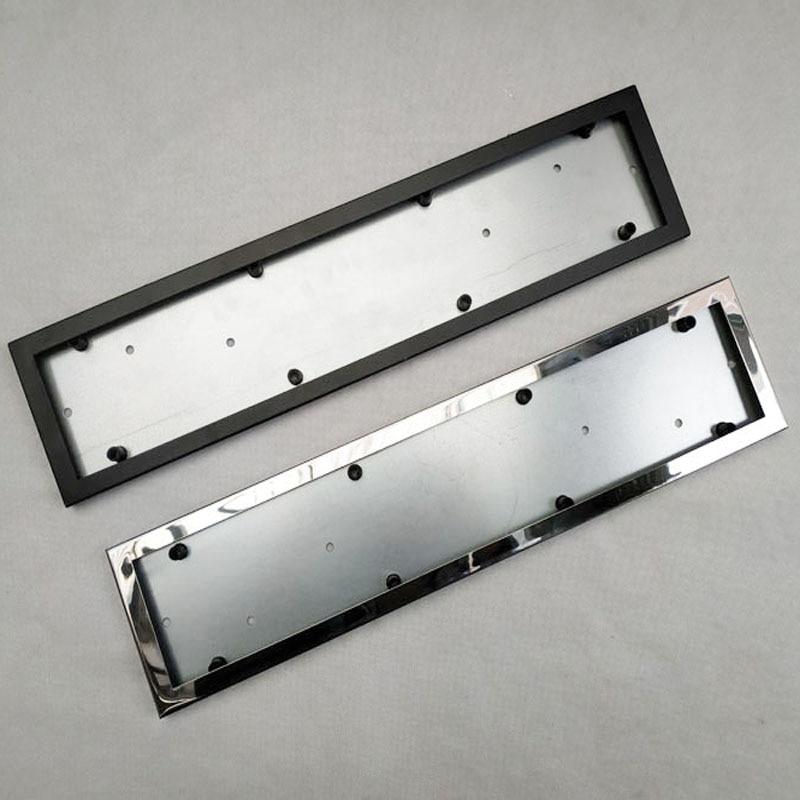 1pcs Car License Plate Frame Metal Frame Car License Plate Frame Number Plate Holder Fit EU Vehicles Standard Car Styling