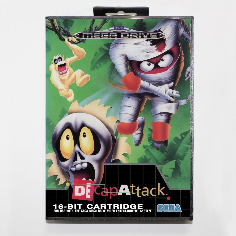 DeCapAttack 16 bit SEGA MD Game Card With Retail Box For Sega Mega Drive For Genesis