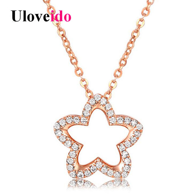 Aliexpresscom Buy Uloveido Cute Star Necklaces Pendants 925