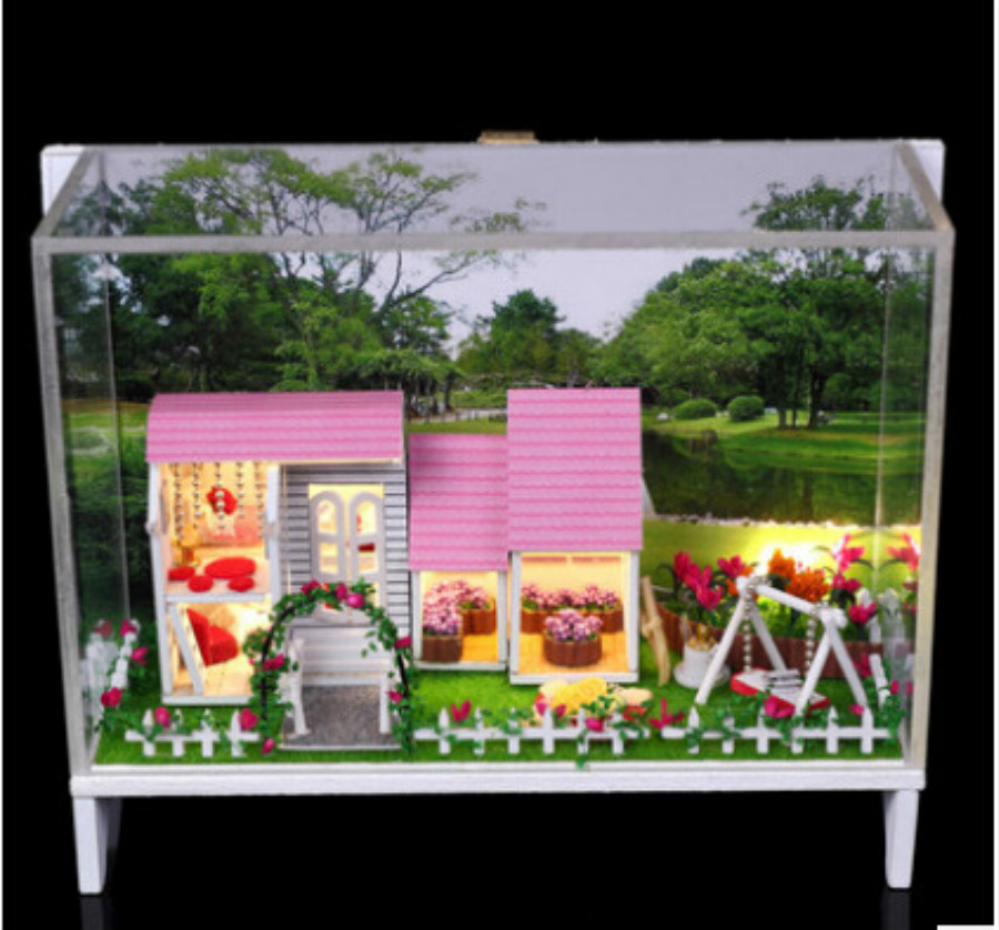 Valentine's Day gifts creative DIY house wholesale sweet small world with light with dustproof cover image
