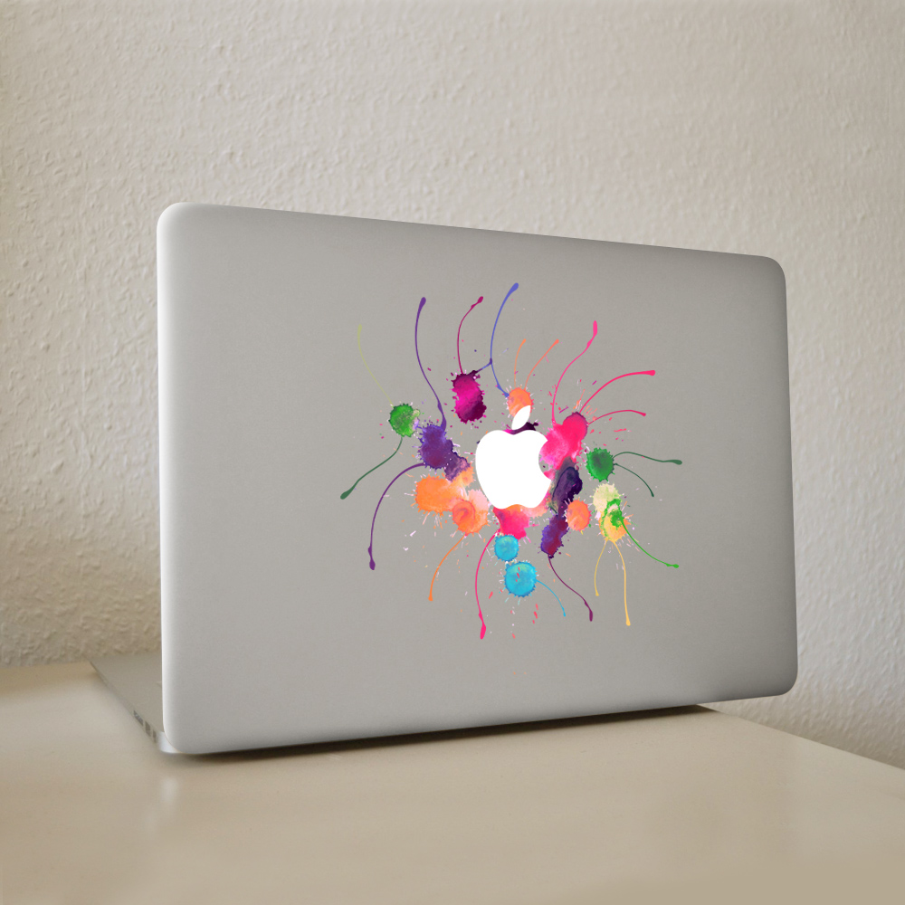 US $4 85 46% OFF|Graffiti paint color Vinyl Decal Laptop Sticker For DIY  Macbook Pro Air 11 13 15 inch Laptop Skin-in Laptop Skins from Computer &