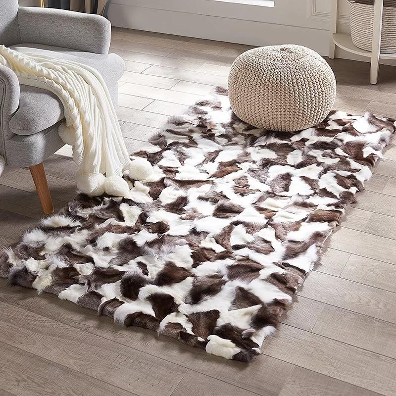 ковры из меха фото расположен правую