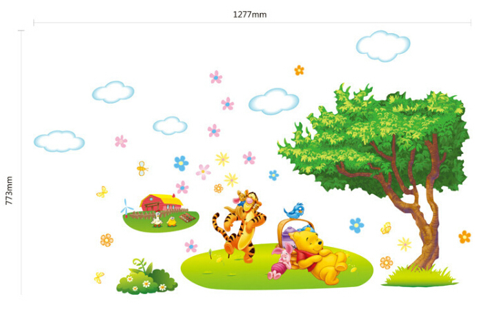 Winnie The Pooh Wall Sticker Baby Kids Room Cartoon Wall Decal Art Stickers  Tree Poster Wallpaper Adesivo Kids Parede Home Decor In Wall Stickers From  Home ... Part 82