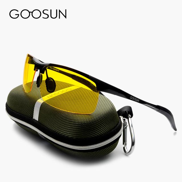 GOOSUN Алюминиево-Магниевый Люксовый бренд мужская Поляризованных Солнцезащитных Очков óculos Мужчины Очки ночного видения Вождения Солнцезащитные Очки Для Мужчин