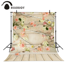 Allenjoy studio background baby Flowers branch wood vinyl backdrops for photography 5x7ft(150x220cm)