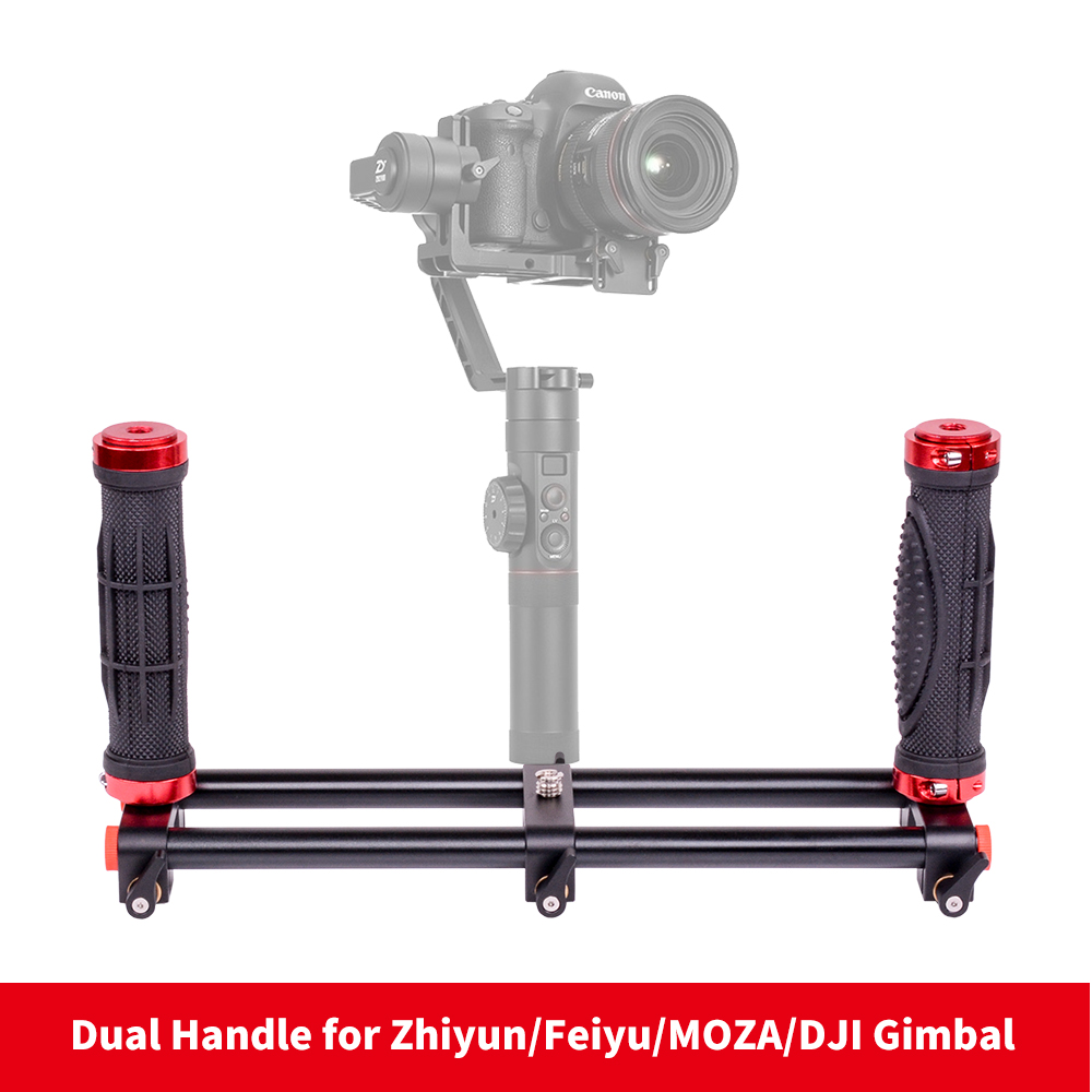 DIGITALFOTO DH01 Dual Handle camera holder stabilizer DSLR Rig for Smartphone 3 axis gimbal Zhiyun Smooth 4 Q DJI OSMO shooting zhiyun smooth q 3 axis handheld gimbal stabilizer for smartphone