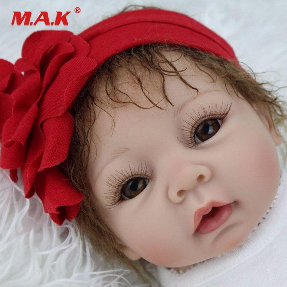 22 ''55 cm réaliste bébé poupée doux mignon blanc fille Silicone vinyle Bebe nouveau-né Reborn fille poupées et vêtements cadeau
