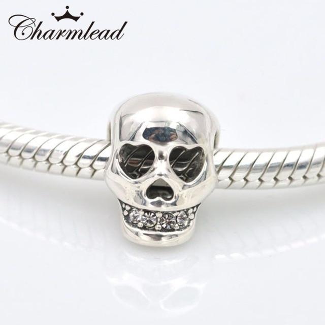Fits pandora charms bracelet 925 sterling silver skull design charm fits pandora charms bracelet 925 sterling silver skull design charm bead diy necklaces pendants jewelry aloadofball Choice Image