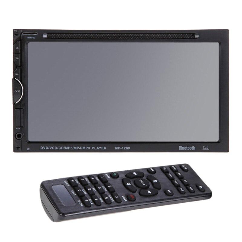 2 Din En El Tablero de 7 Pulgadas de Coches Reproductor de DVD Bluetooth Touch S