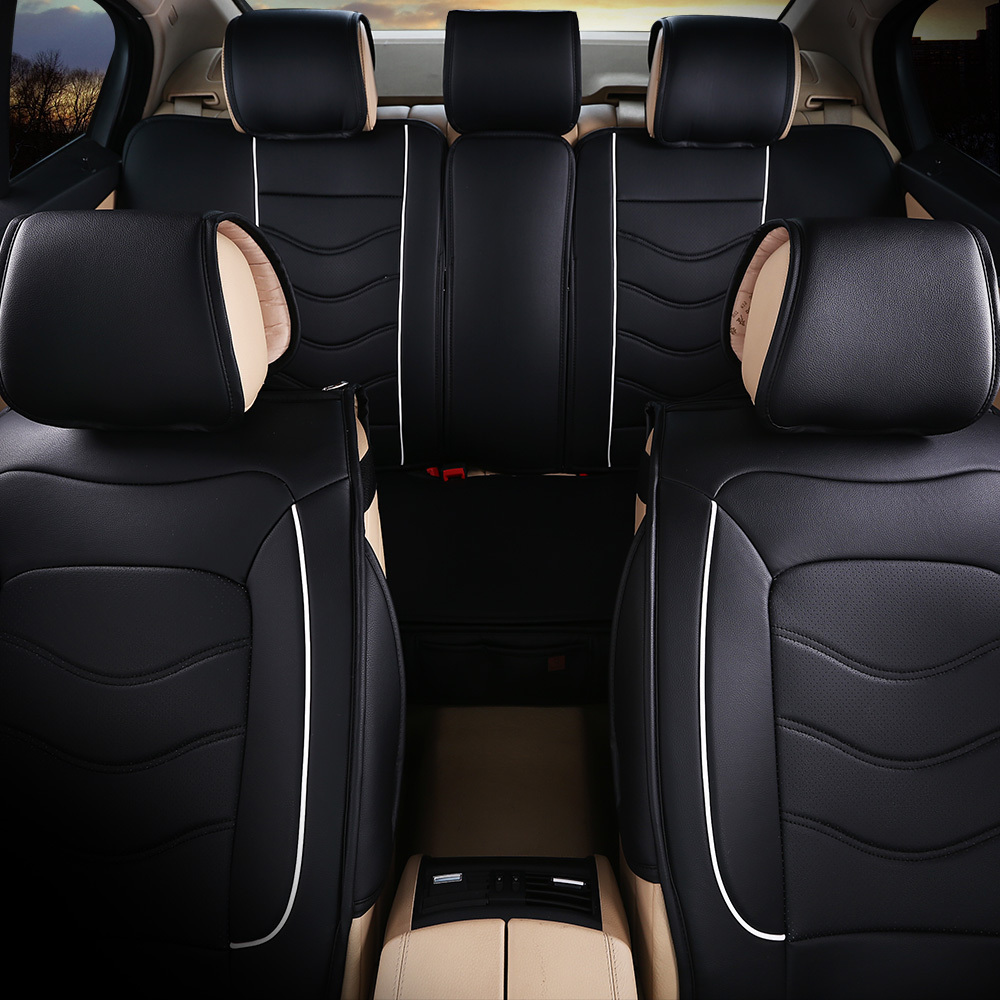 Free Shipping Luxury Leather Car Seat Cover Universal Black Beige Gray Sport Covers Whole Surrounded Cushion In Automobiles