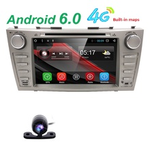 1024*600 Android 6.0 автомобилей gps-навигация DVD для Toyota Camry 2008 2009 2010 2011 с 4 г Wi-Fi радио Bluetooth 2 DIN SWC DVR