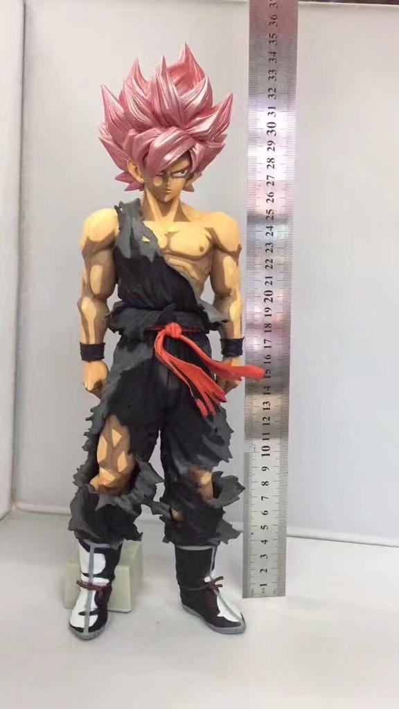 34cm Dragon Ball Dragonball MSP DragonBall GOKU Super Saiya pink hair ver. PVC Action Figure Collectible Model Toy shfiguarts batman injustice ver pvc action figure collectible model toy 16cm kt1840