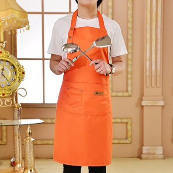 Pure Color Cooking Kitchen Apron For Woman Men Chef Waiter Cafe Shop BBQ Hairdresser Aprons Custom Logo Gift Bibs Wholesale 1