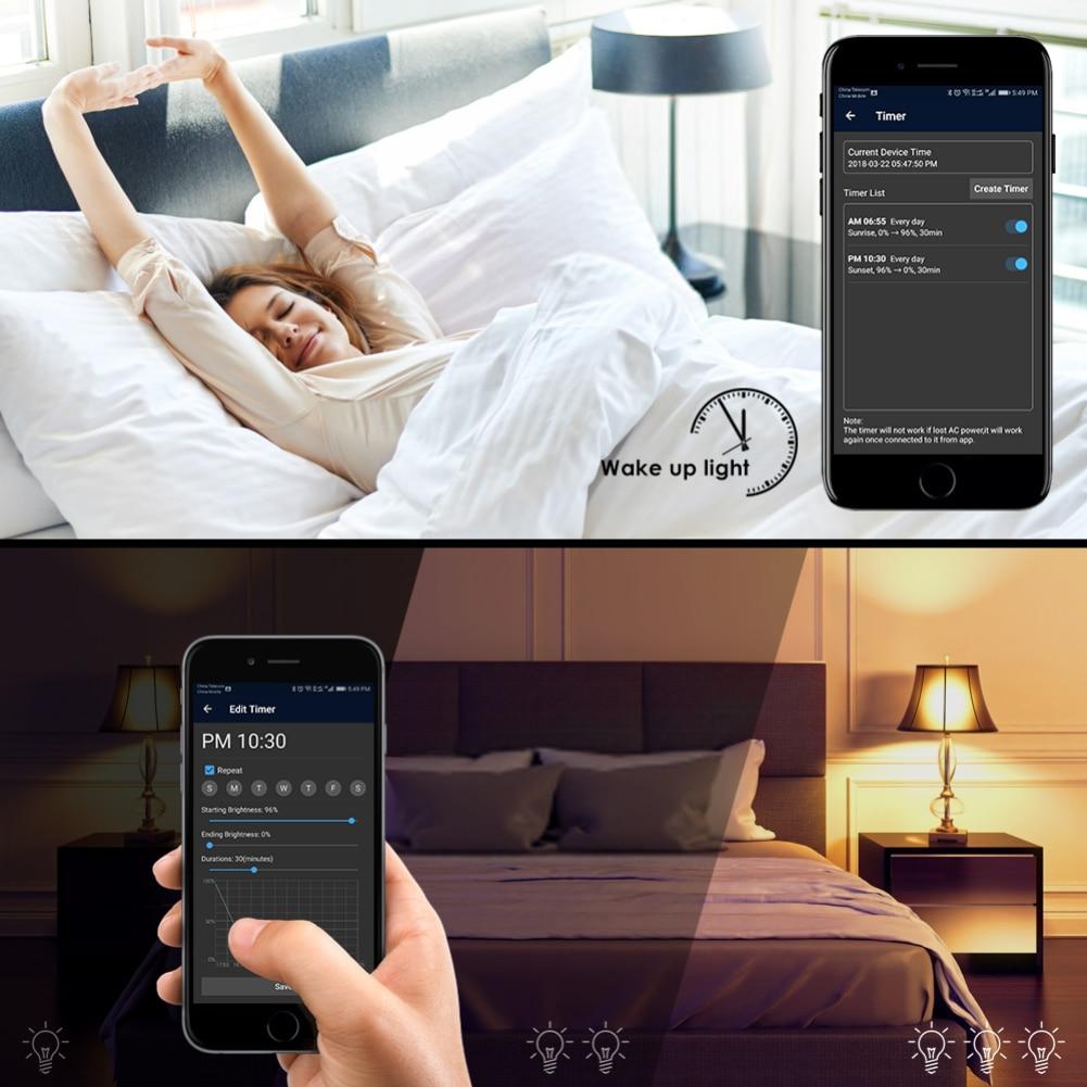 E27 Wifi Smart Light Bulb Dimmable Wake Up Lights For
