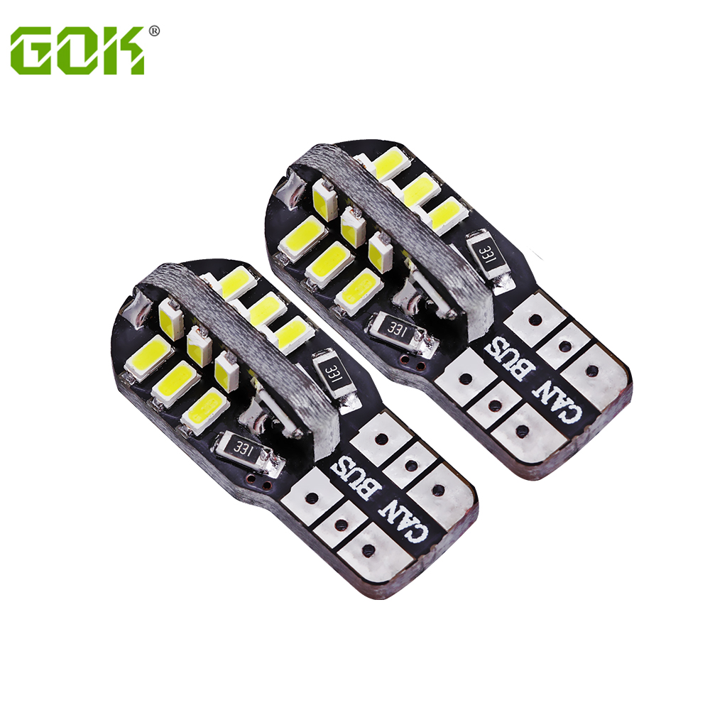 Super Bright 500 X T10 canbus W5W led canbus t10 24SMD led 3014 smd Canbus NO