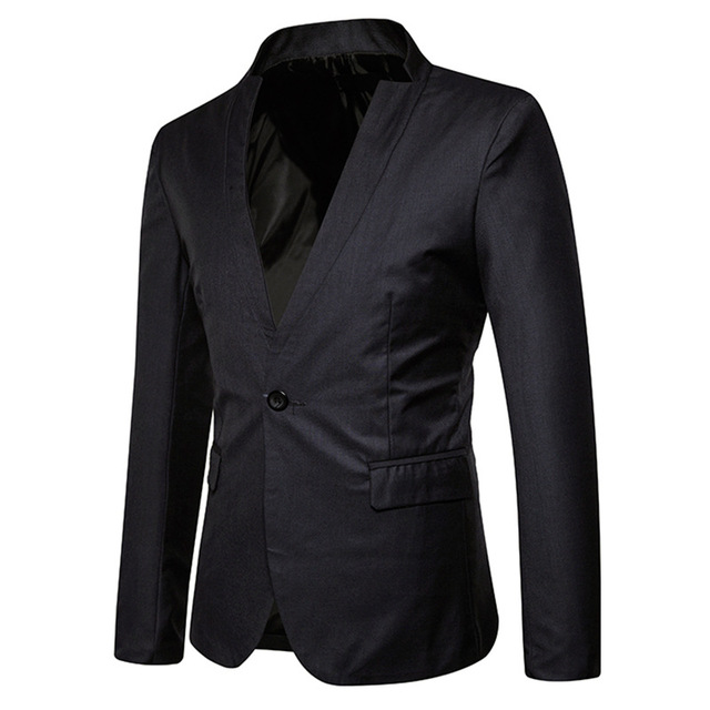 FFXZSJ 2018 New European and American Style Fashion Men's Dress Party Henry Leads The Leisure Single Buckle Small Suit Coat 2XL
