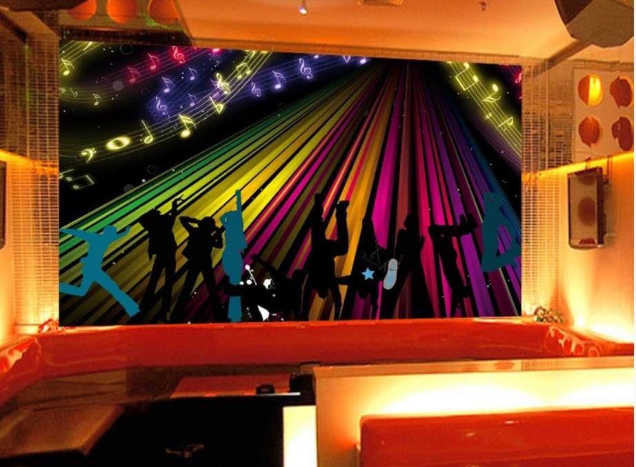 wallpaper for walls 3 d for living room Abstract rock jazz music character carnival bar KTV background wall in Wallpapers from Home Improvement