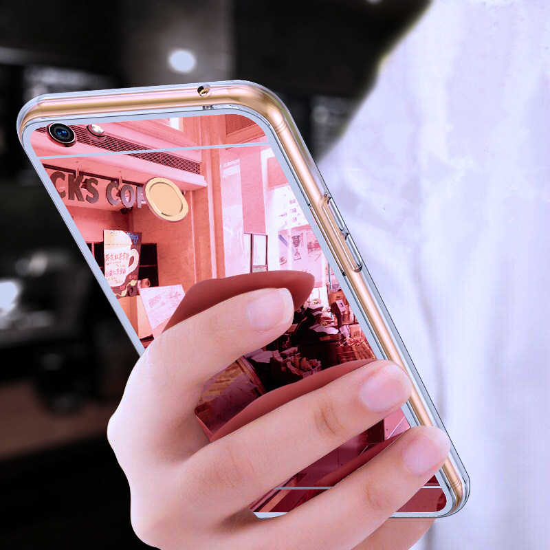 soft tpu Mirror Plating phone case For OPPO A73 F5 Youth R9 R9s R11 R11s Plus Gold Clear Transparent TPU Silicone back Cover